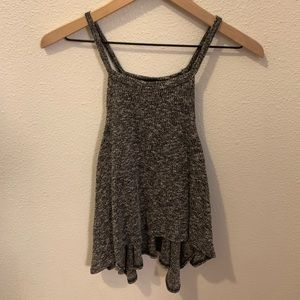 Polly&Esther- black/white speckled tank top